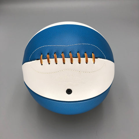 Blue and White Naismith style basketball