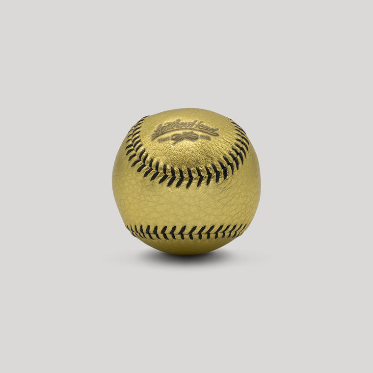Gold Leather with Black Stitch Figure 8 Ball