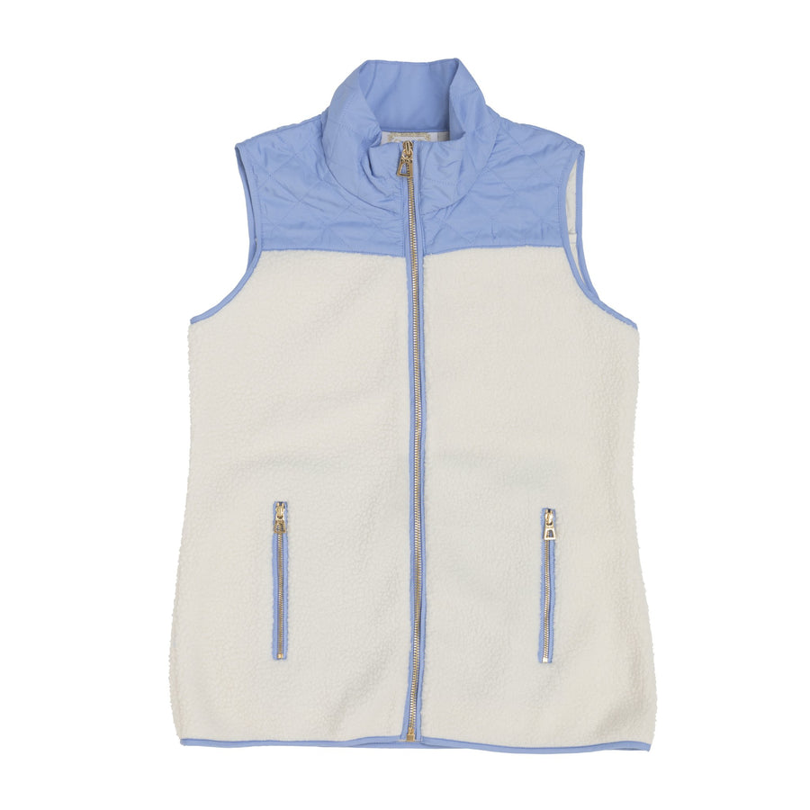 Sherpa Fleece Vest Camel