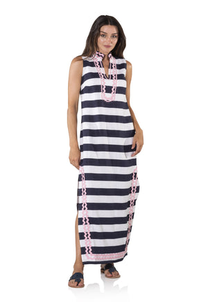 Sleeveless Classic Maxi Tunic with Ric Rac