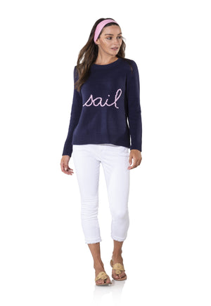 Long Sleeve Intarsia Sail Sweater
