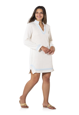 French Terry Long Sleeve Tunic Dress