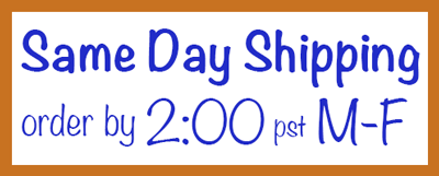 Same day shipping on orders placed by 2pm PST Monday through Friday