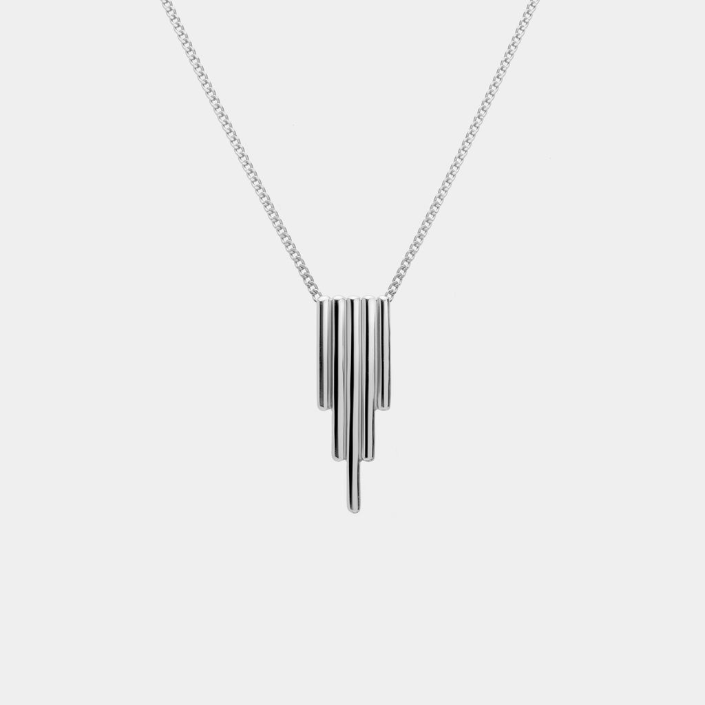 Oblique Necklace Silver
