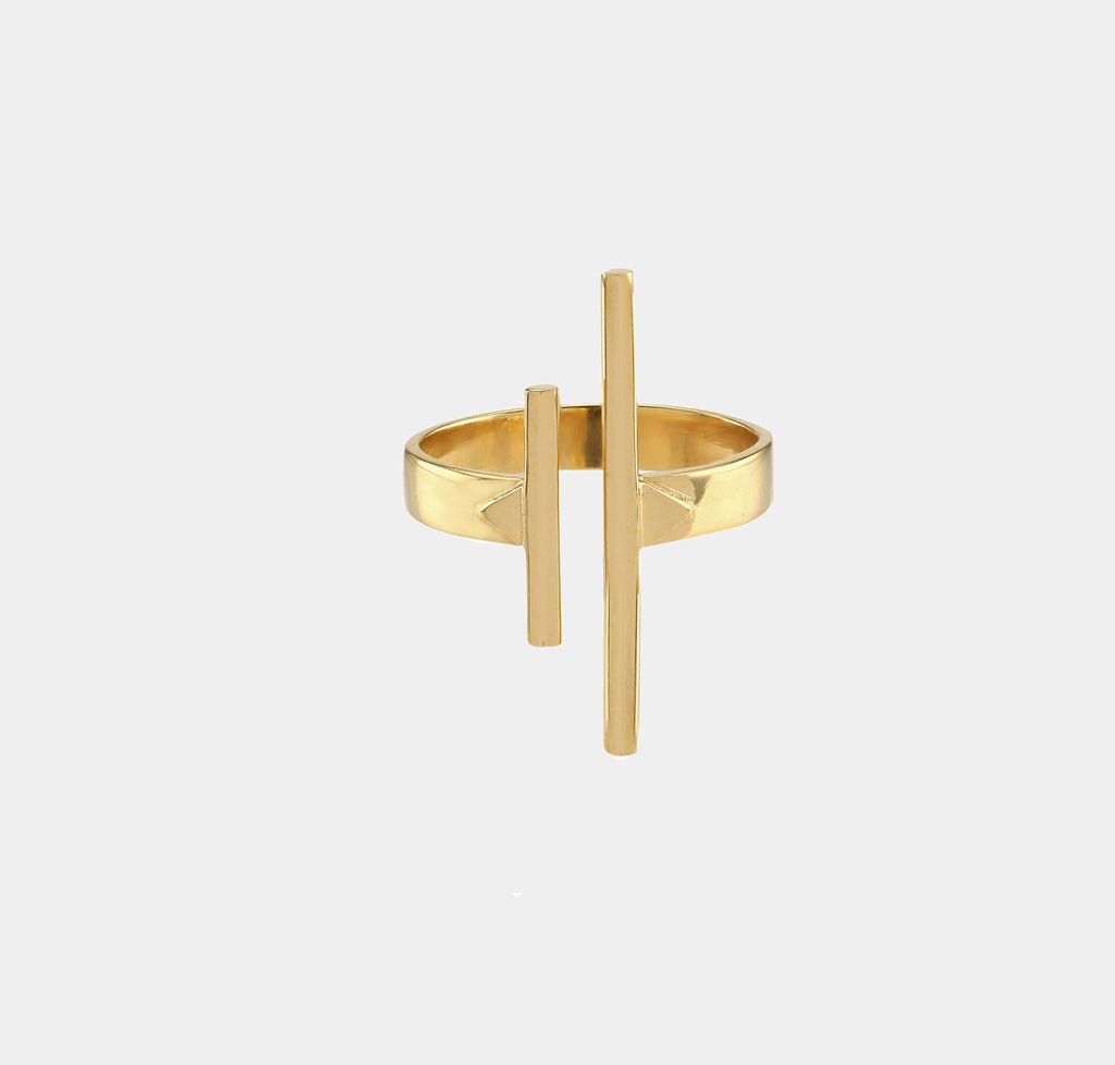Open Totem Ring Gold