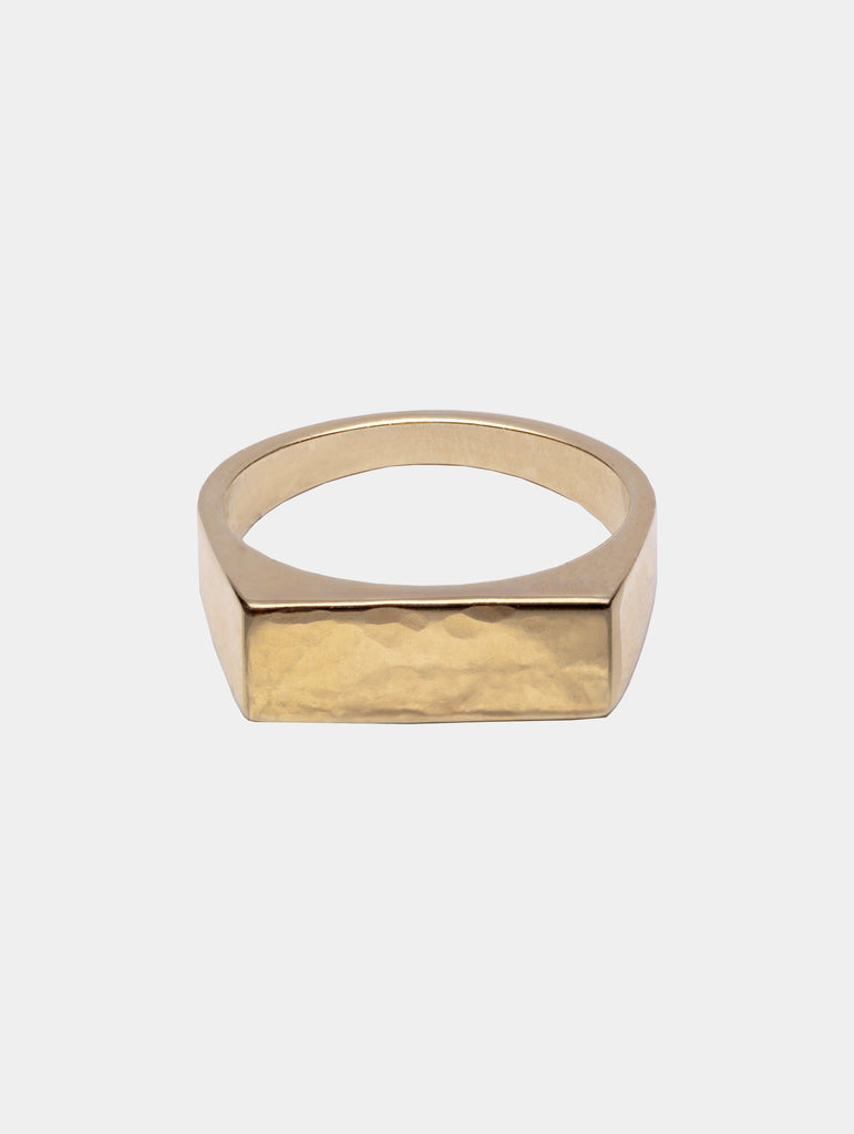 River Signet Ring Gold