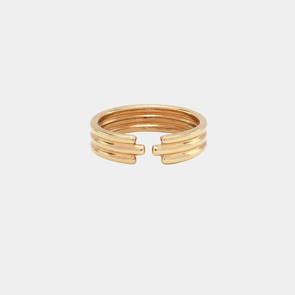 Open Triple Ring Gold