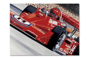 A.J. Foyt Gilmore Racing Coyote Archival Canvas Limited Edition Print
