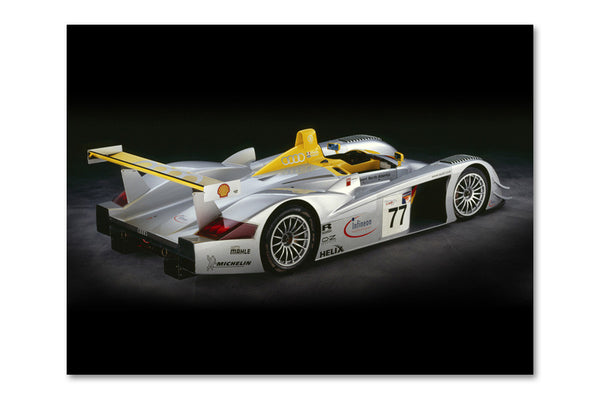 Audi R8 LMP Rear View Archival Canvas and Photograph Limited Edition Print