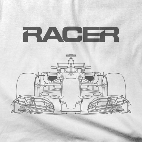Grand Prix Car Gray Line Art - Short Sleeve T-Shirt - 2 colors