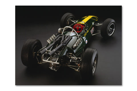 Lotus 34 Ford Rear Archival Canvas and Photograph Limited Edition Print