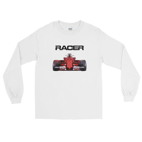Grand Prix Car Color Line Art 2 - Long Sleeve T-Shirt