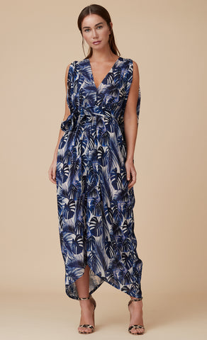 BELLA JUMPSUIT INDIGO LEAF
