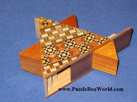 5 Step STAR  Yosegi and Natural Wood  Japanese Puzzle Box 2