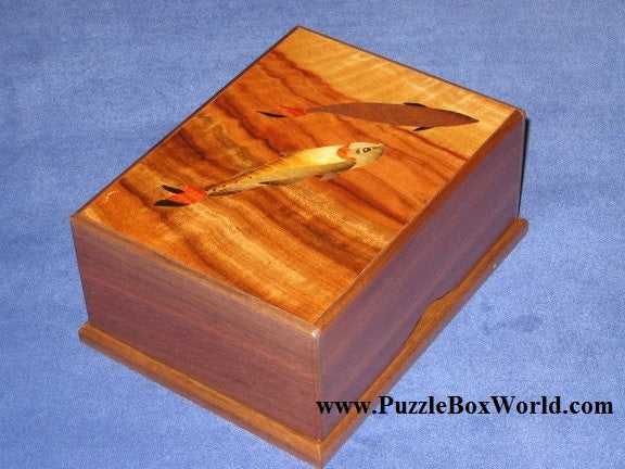6 Sun 12 Step Fish Book Style Japanese Puzzle Box 1