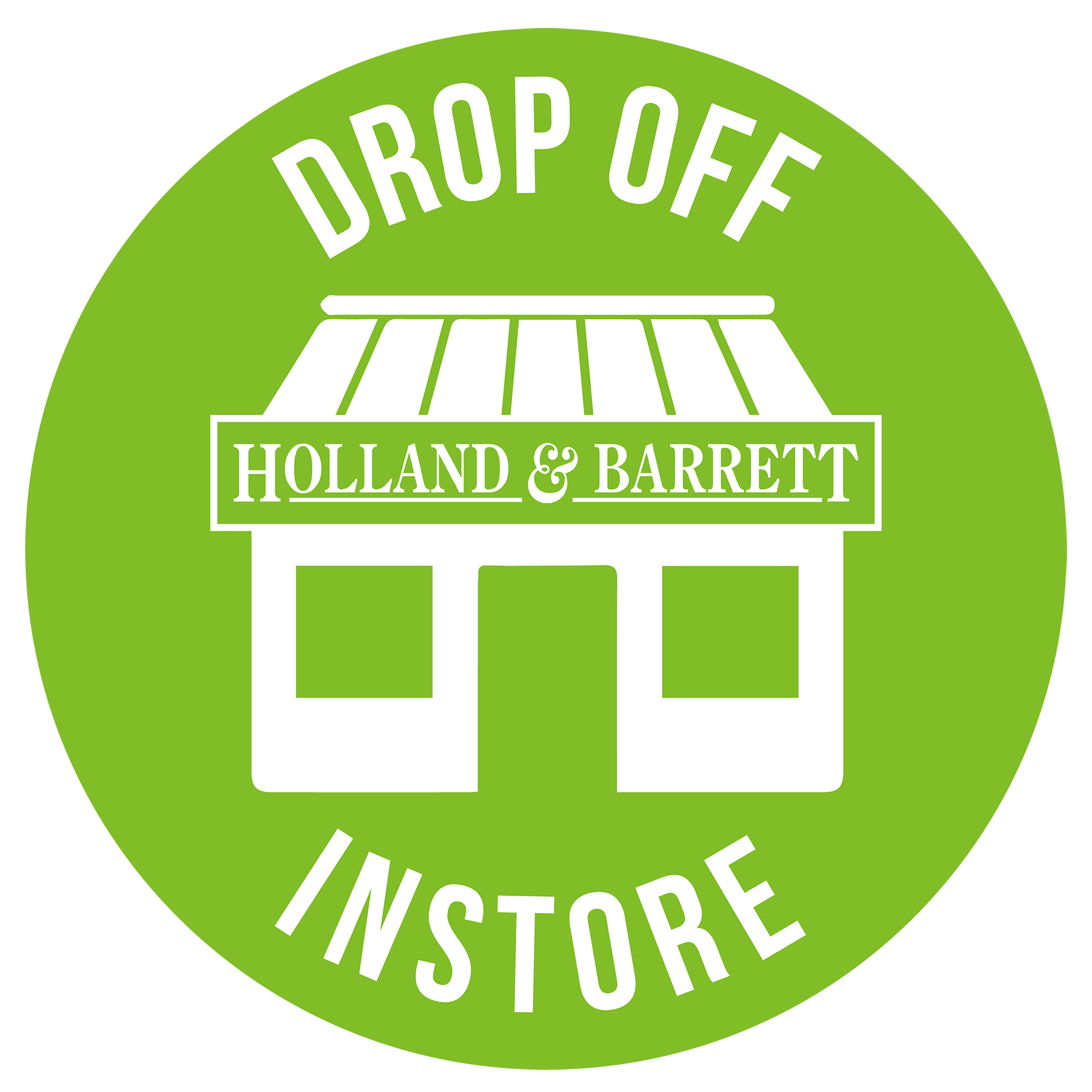 Drop off bottles to Holland and Barrett stores stamp