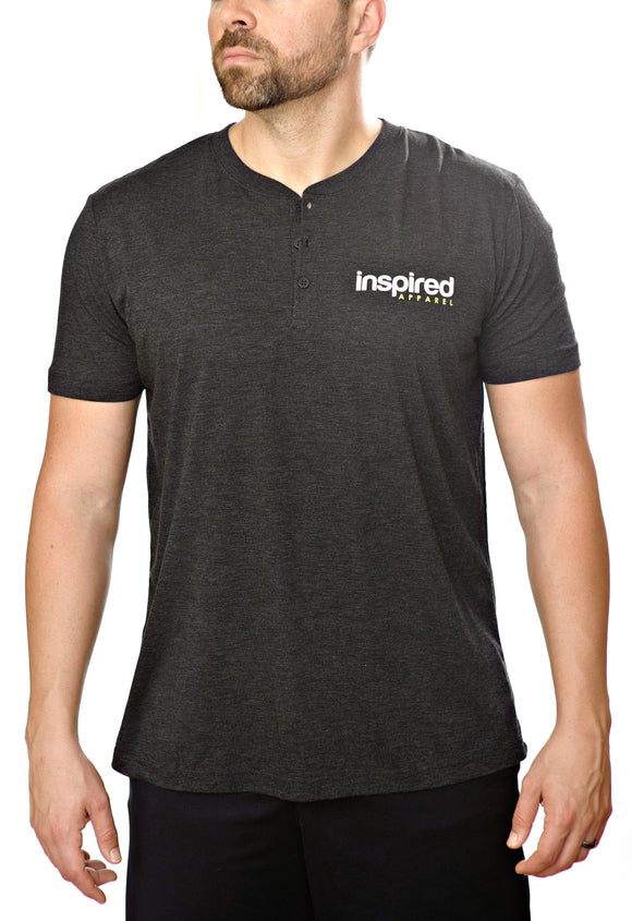 Inspired Apparel- Men's Short Sleeved Henley