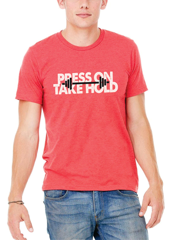 Press On Barbell - Men's Heather Red