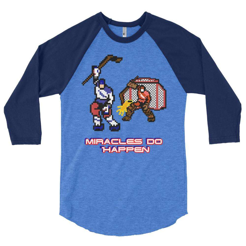 1980 USA Hockey Inspired 3/4 sleeve raglan shirt