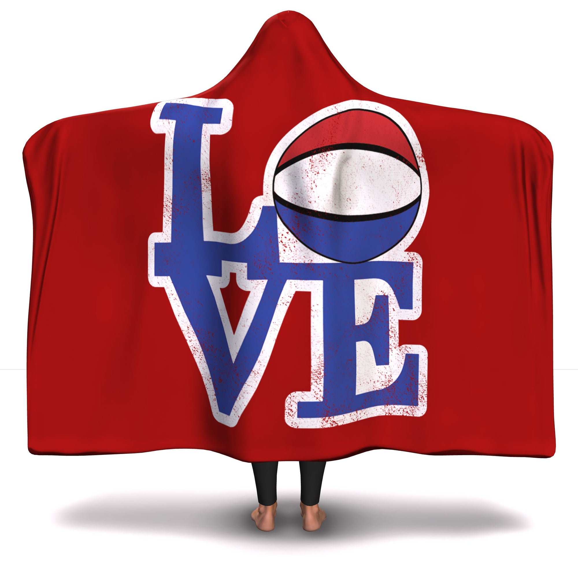 Philly Hoops Love Hooded Blanket