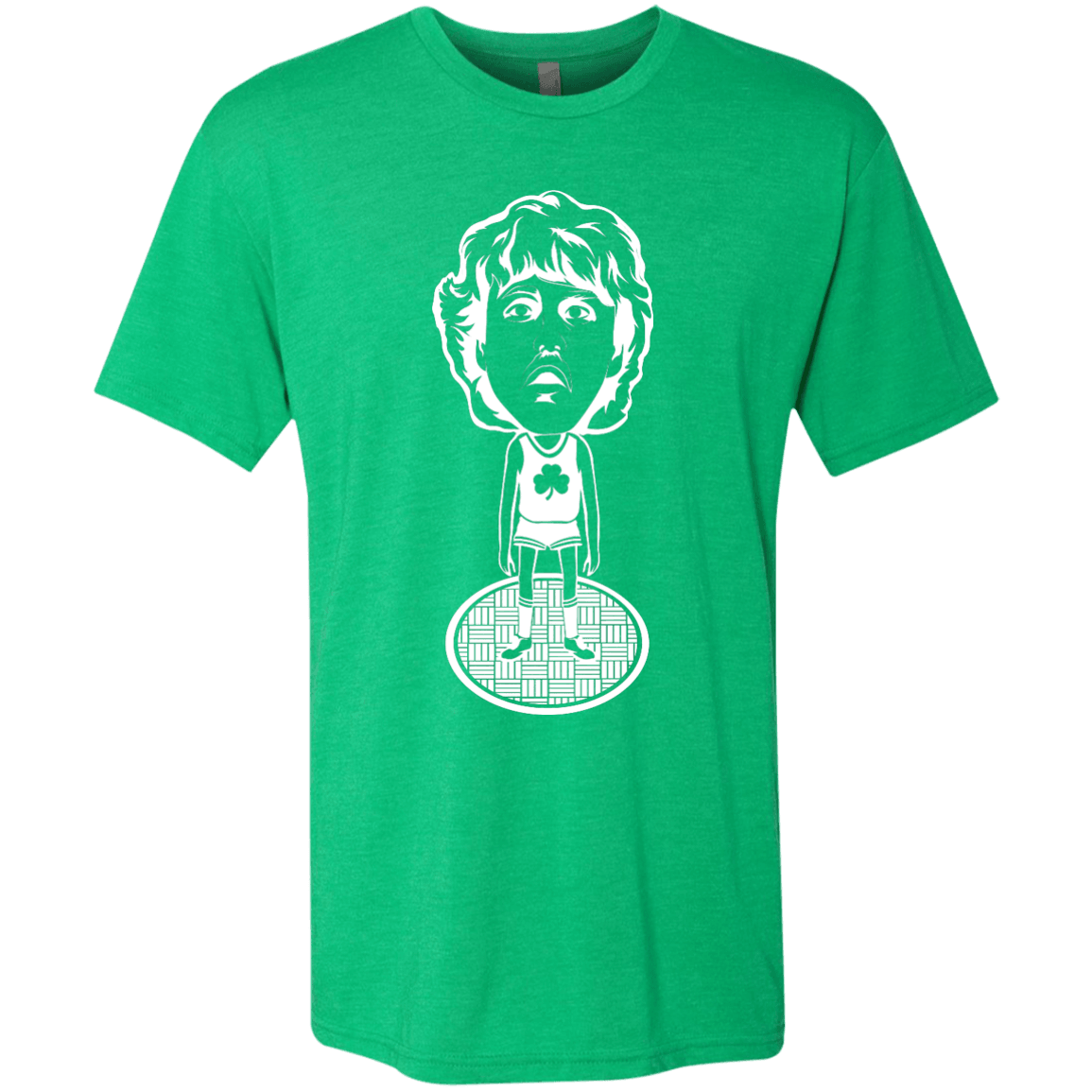 80s Boston Hoops Bobblehead Men's Tri-Blend Tee