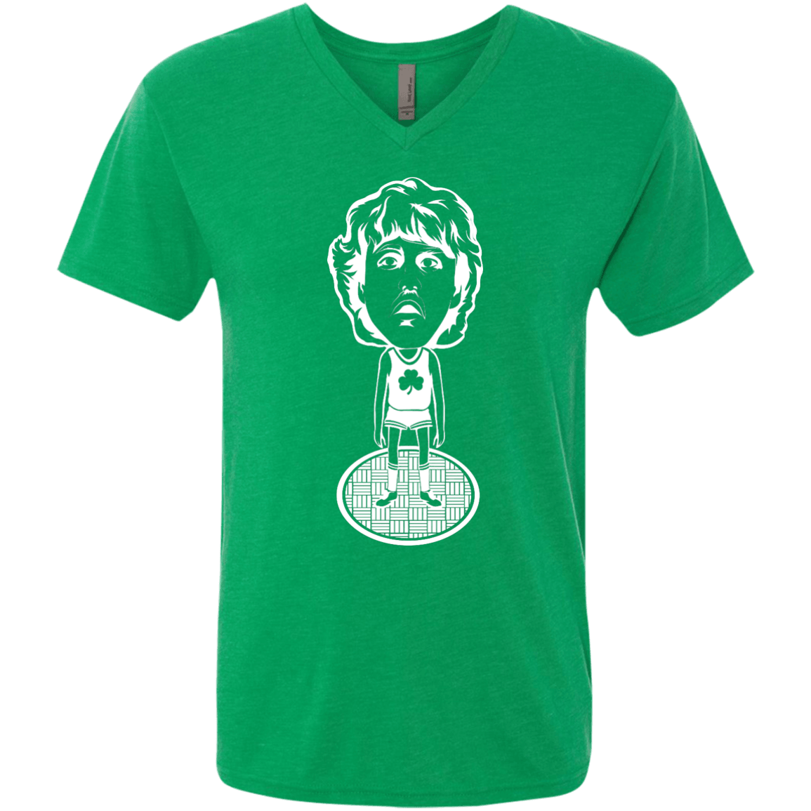 80s Boston Hoops Bobblehead Men's Triblend V-Neck Tee