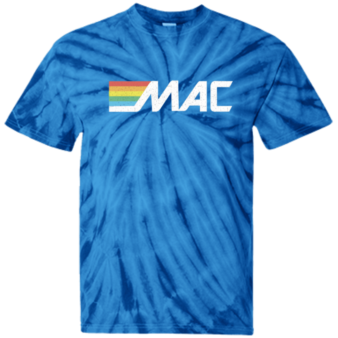 80s MAC Machine 100% Cotton Tie Dye T-Shirt