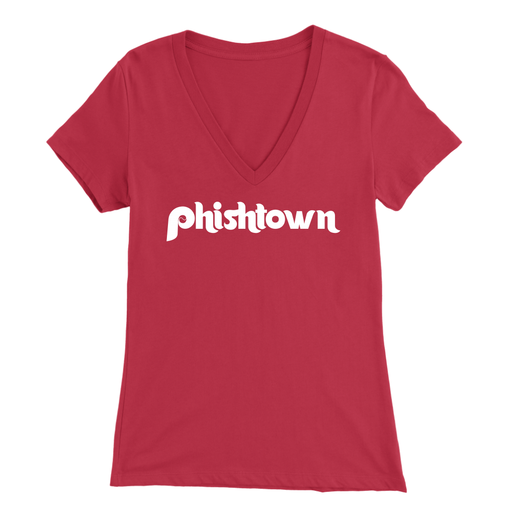 Fishtown Philadelphia Womens V-Neck T-Shirt