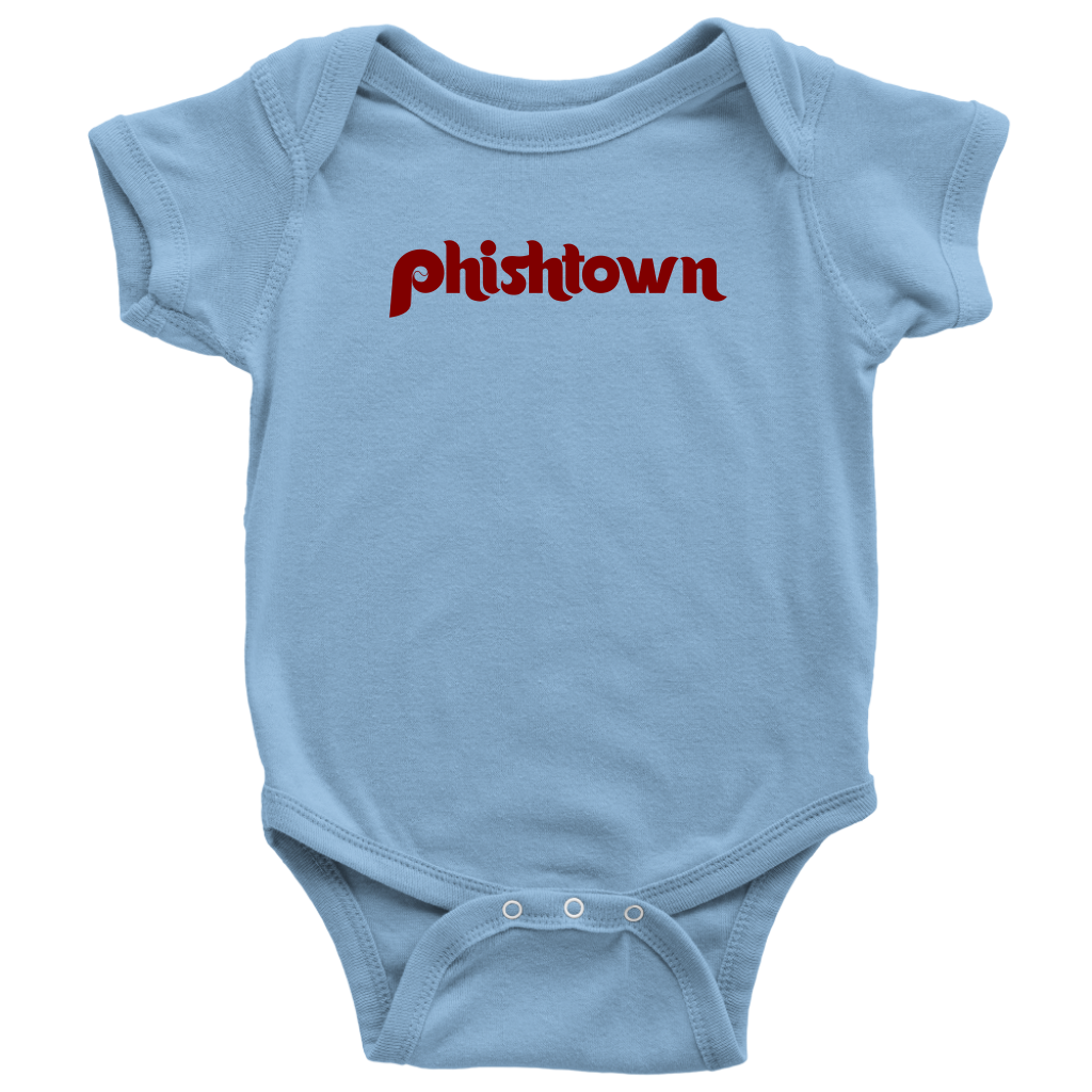 Blue Fishtown Philadelphia Infant Bodysuit