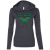 Big Mean Green Machine Retro Ladies LS T-Shirt Hoodie - Generation T
