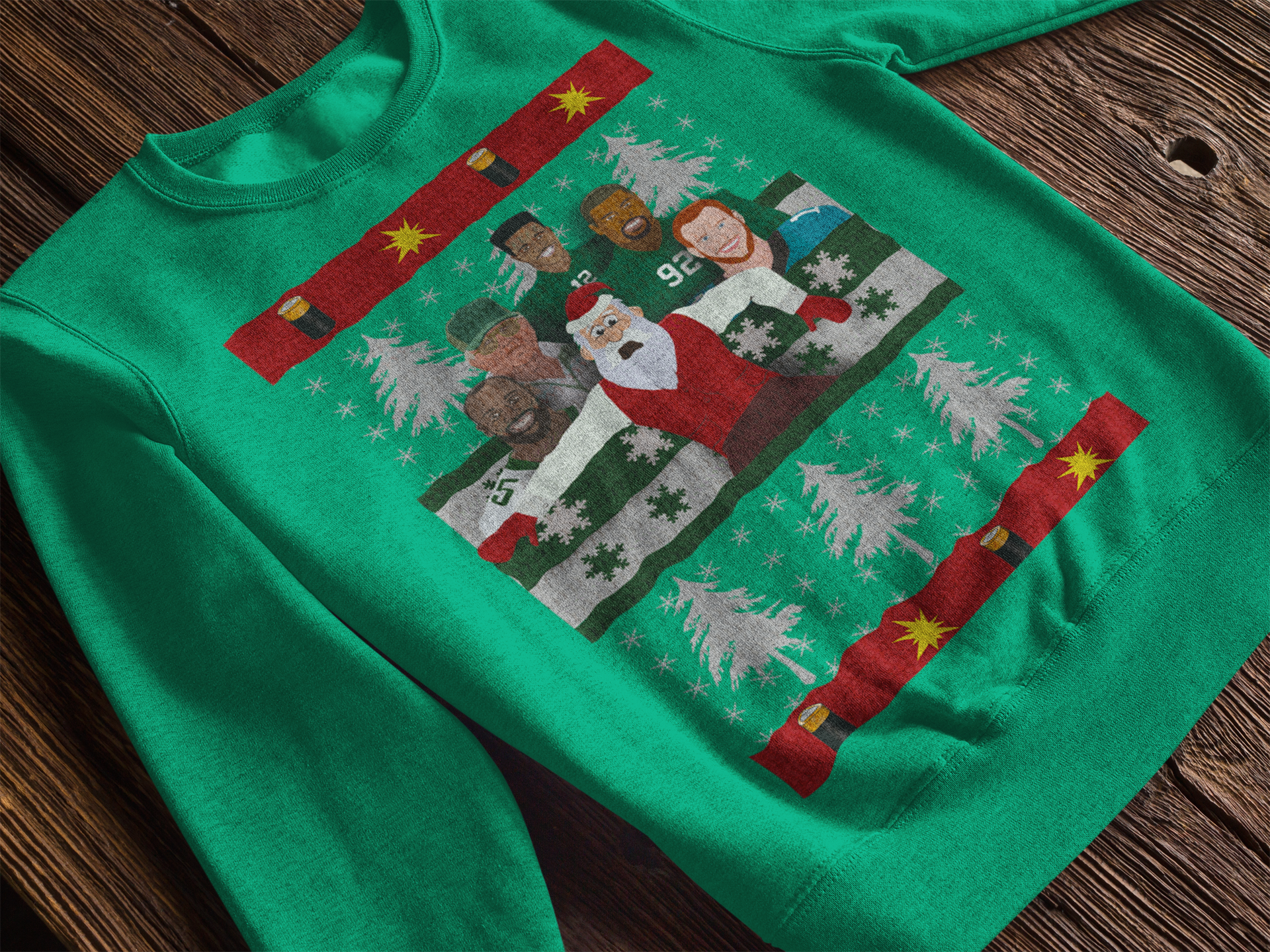 Retro Philadelphia Football Crewneck Ugly Christmas Sweatshirt