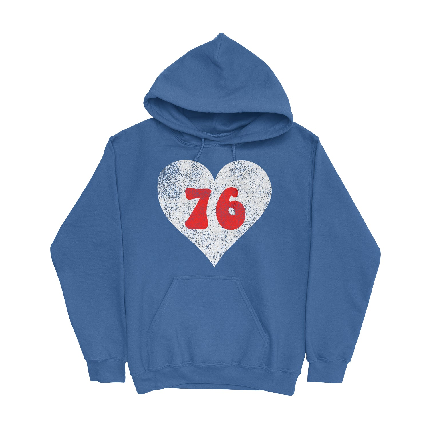 Retro Philly 76 Heart Royal Unisex Heavy Blend Hooded Sweatshirt