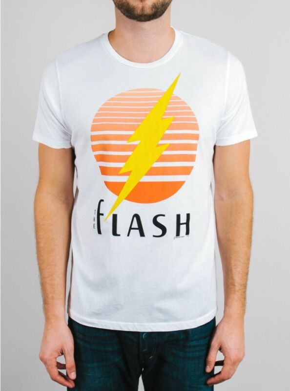 New Authentic Mens Junk Food Vintage Inspired The Flash Tee Shirt