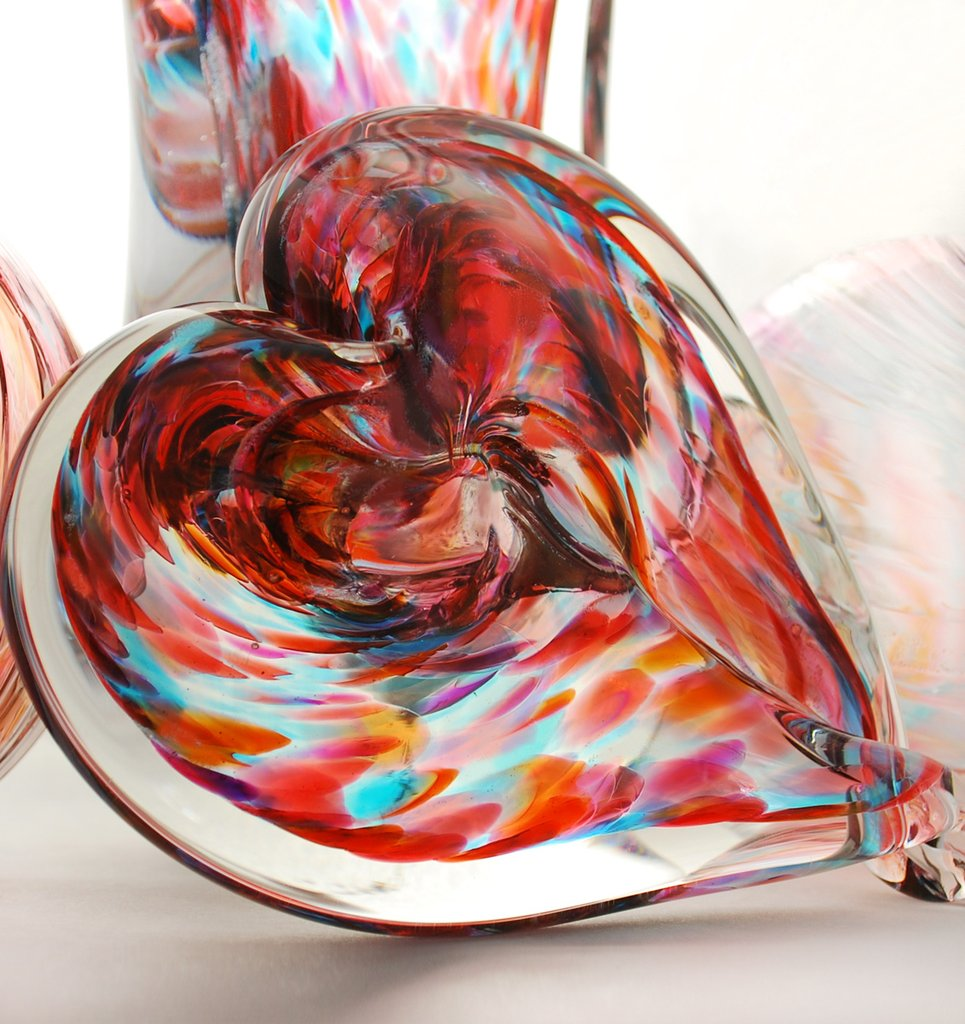 Unity in Glass Heart-shaped Paperweight Package