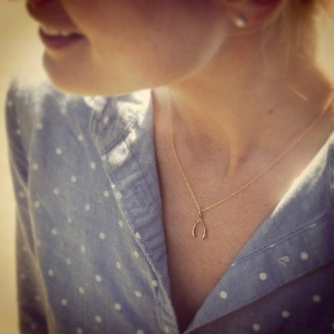 Itsy Wishbone Necklace