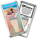 Cocoa Beach FootWhere® Souvenir Fridge Magnet. Made in USA - FootWhere® Souvenirs