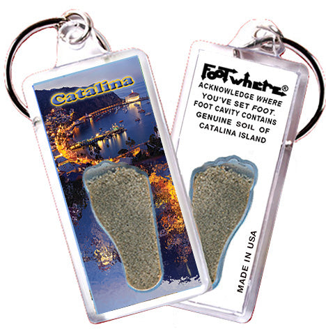 Catalina Island FootWhere® Souvenir Keychain. Made in USA - FootWhere® Souvenirs