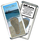 Malibu FootWhere® Souvenir Fridge Magnet. Made in USA - FootWhere® Souvenirs