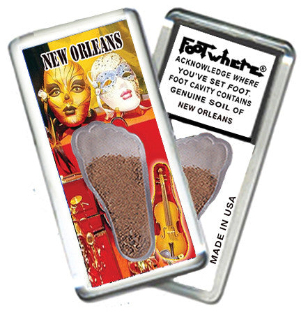 New Orleans FootWhere® Souvenir Magnet. Made in USA - FootWhere® Souvenirs
