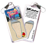 South Padre Island FootWhere® Souvenir Zipper-Pull. Made in USA - FootWhere® Souvenirs