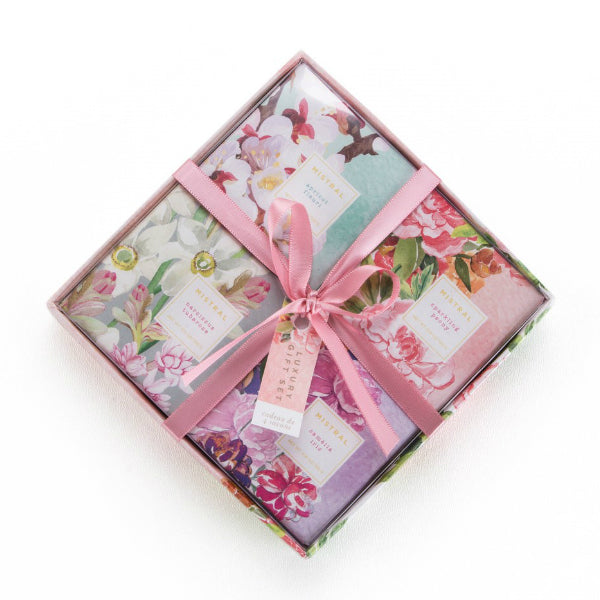 Mistral Exquisite Florals - 4 pc Gift Box Set  - Putti Fine Furnishings
