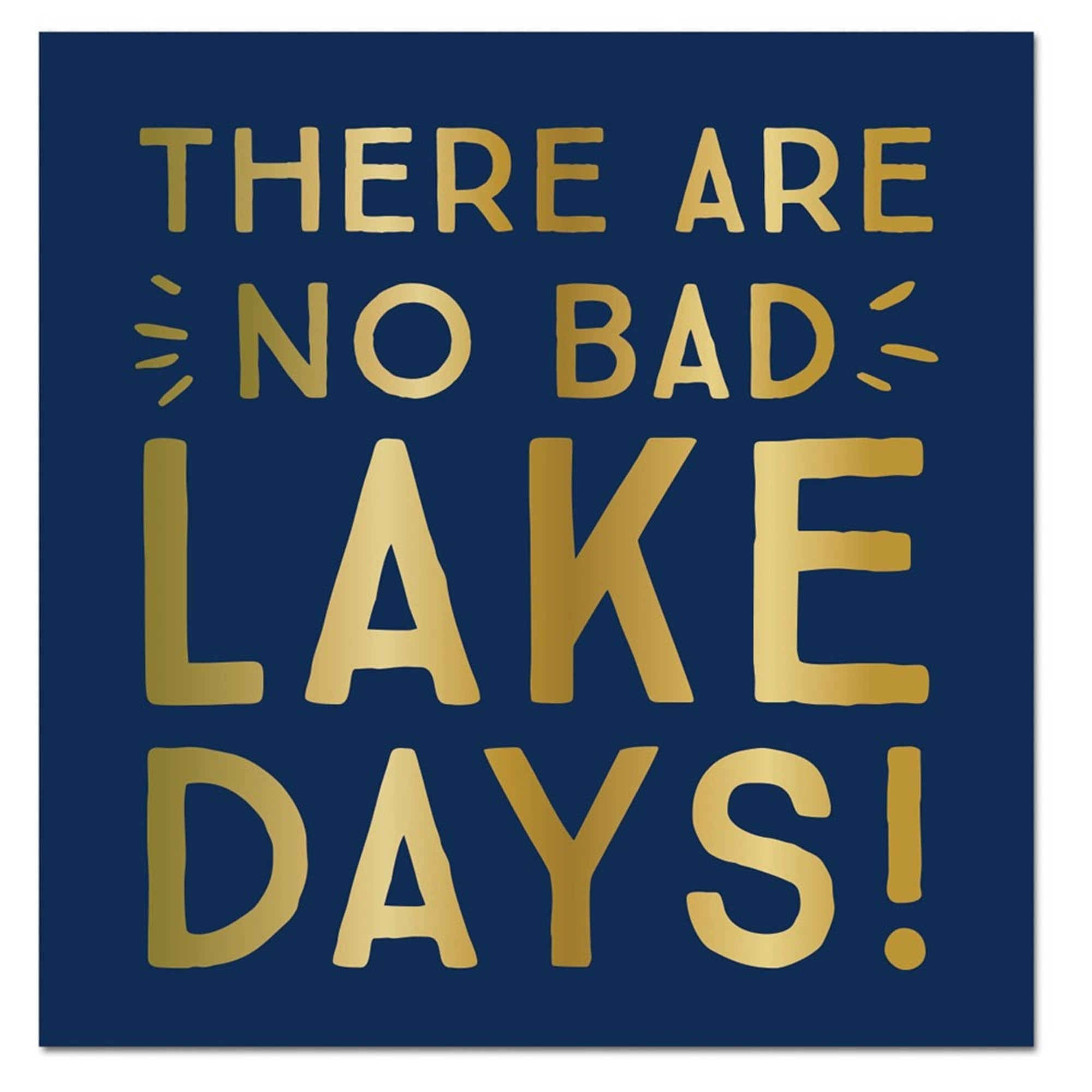 """There are no bad lake days"" Paper Napkins - Beverage, SC-Slant Collections, Putti Fine Furnishings"