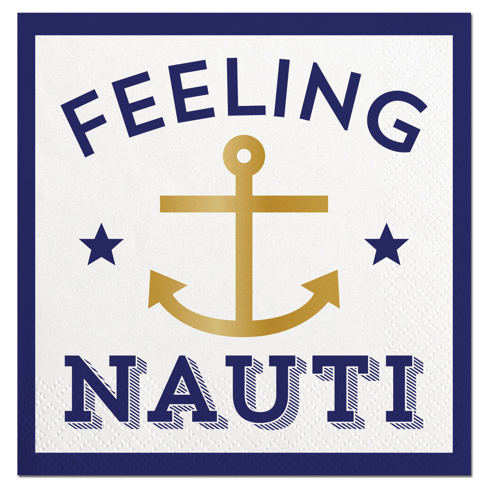 """Feeling Nauti""  Paper Napkins - Beverage, SC-Slant Collections, Putti Fine Furnishings"