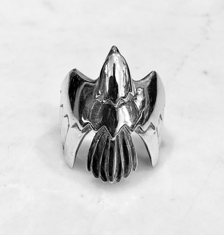 Silver Soaring Eagle Ring
