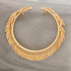 GOLD TASSEL BANGLE
