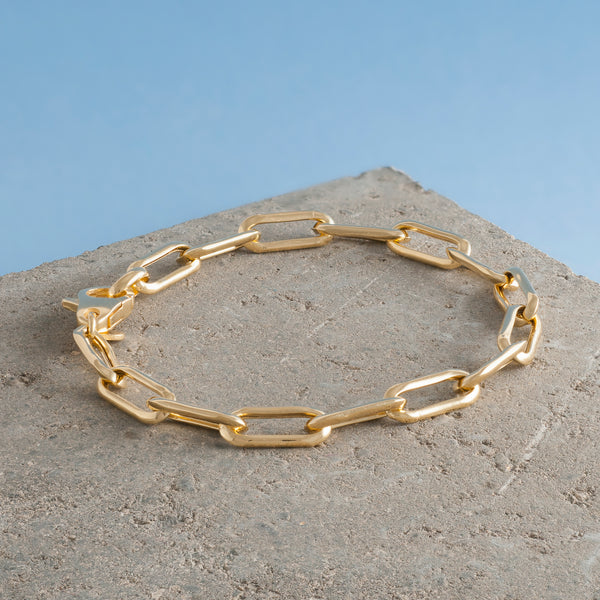 GOLD LONG LINK CHAIN BRACELET