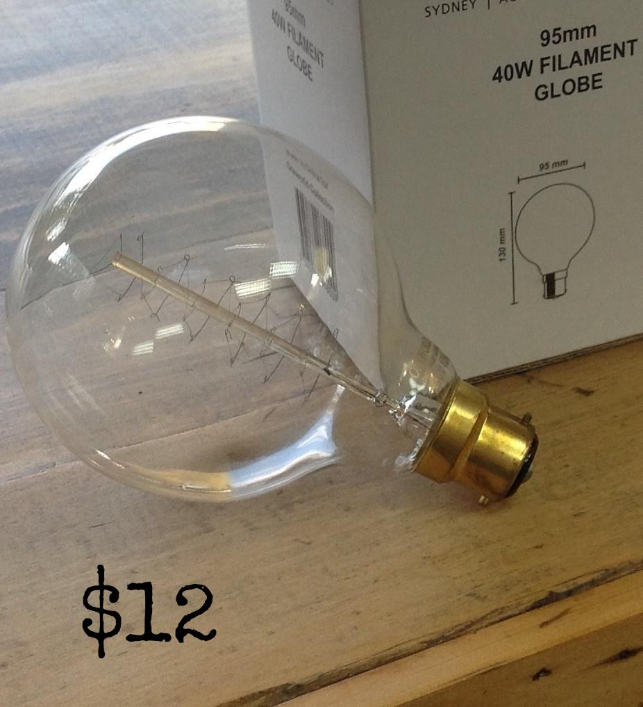 Filament Light Bulb: globe