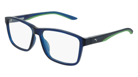 Puma - PU0219S Ruthenium Blue Sunglasses / Blue Mirror Lenses