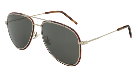 Saint Laurent - Classic 11 White Sunglasses / Grey Lenses