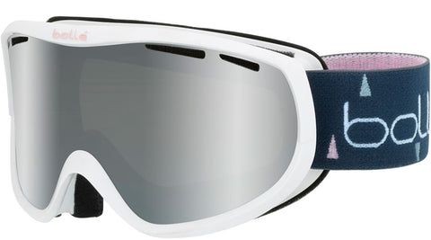 Bolle - Sierra White + Pink Snow Goggles / Black Chrome Lenses